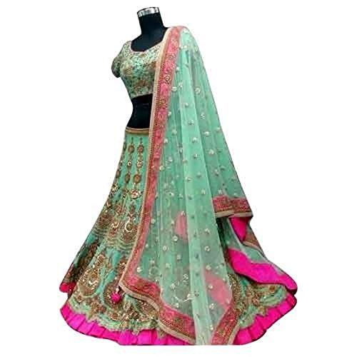 Colour Trendz Light Green Designer Wedding Ware Lehenga Choli