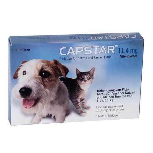 Elanco Deutschland GmbH Capstar 11,4 mg für Katzen und kleine Hunde Table 6 STK