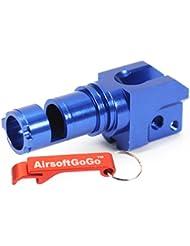 CNC Aluminio C?mara hop up para Airsoft G36 G36C / G36K G36V AEG (Azul) - AirsoftGoGo Llavero Incluido
