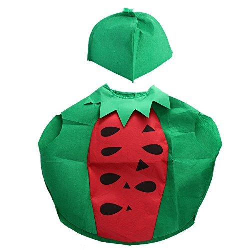 Kind Wassermelone Kostüm - LUOEM Kinder Obst Gemüse Kostüm Kinder Party Cosplay Kleidung für Kinder Kleinkind Jungen Mädchen (Wassermelone)