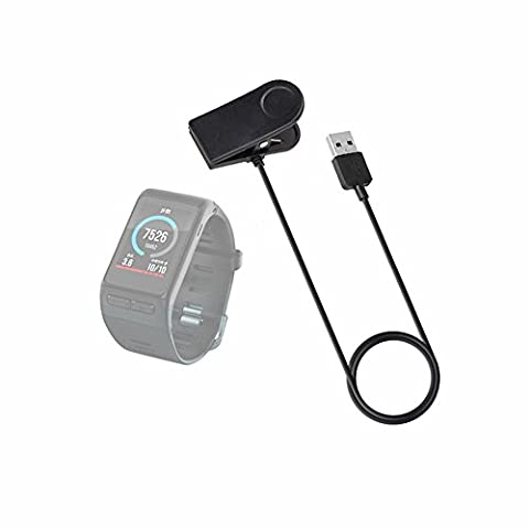 Hensych® Chargeur Câble de Données Pince câble de Recharge USB pour Garmin Vivoactive HR chargeur de secours