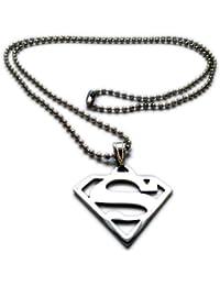 Warner Bros. Superhero Batman / Superman Necklace / Locket Jewellery w/ Ball Chain IJN2SET1 for all