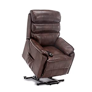 More4Homes BUCKINGHAM DUAL MOTOR ELECTRIC RISE RECLINER ARMCHAIR SOFA MOBILITY BONDED LEATHER CHAIR