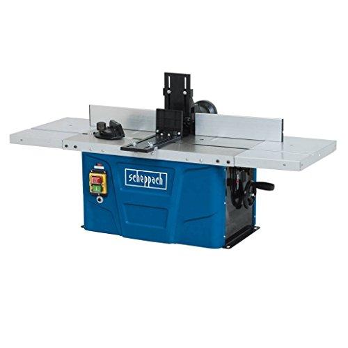 Scheppach Fräsmaschine HF50 (1500 Watt, 230 - 240 Volt, Spannzangen von 6,8 bis 12 mm, einstellbare Spindelhöhe max. 40mm, variable Drehzahlregulierung, inkl. Tischverbreiterungen)