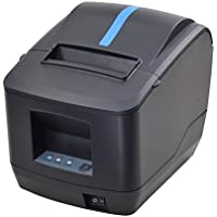 80mm Thermal Receipt POS Printer MUNBYN USB Ethernet LAN Cash Drawer Port Printer with Auto Cutter for Supermarket Home Business ESC/POS Support DHCP Auto Set IP Address