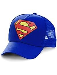 Casuqtte Superman Logo - Casquette de baseball DC Comics - Visière Super-héros - Trucker Cap avec logo brodé - bleu - Design original sous licence - LOGOSHIRT