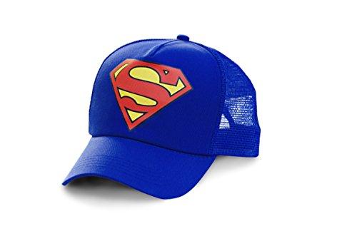 Superman - Logo Trucker Cap - DC Comics - bedruckt - Original Kappe von LOGOSHIRT - blau - Lizenziertes Originaldesign (Superman Original Kostüm)