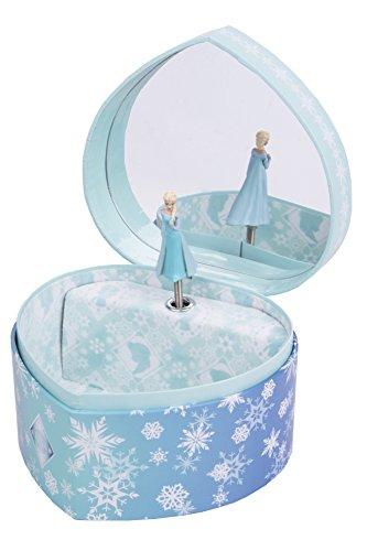 Trousselier-caja-de-joyera-caja-de-msica-Frozen-Elsa-Snow-Queen-en-una-forma-de-corazn