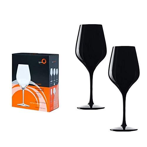 Stölzle Exquisit Blind Tasting Weinglas schwarz 2er Set im Geschenkkarton