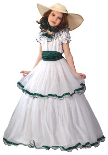 Fun World FW5934-M Medium Southern Belle Kinderkost-m (Southern Belle Kostüme Für Kinder)