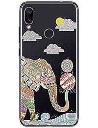 Suhctup Compatible con LGK202019 Funda de Transparente Silicona con Dibujos Lindo Animados Animal Diseño Patrón Cárcasa Suave Flexible Ultrafina TPU Antigolpes Protección Caso, Elefante 1