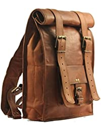 LEATHER WORLD LTD. Vintage Style Real Goat Leather Messenger Bag With Adjustable Padded Strap - B01EZCA4GI