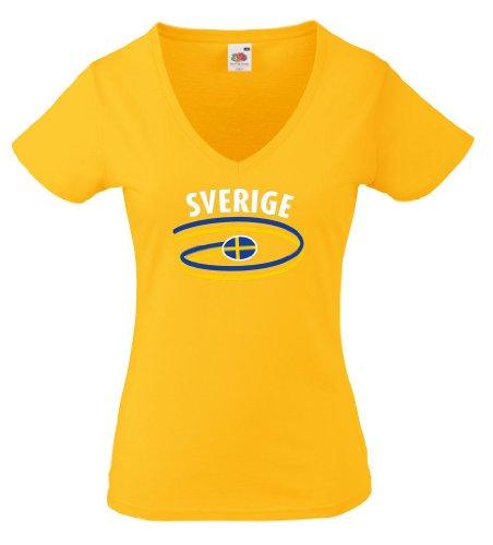 Schweden Damen T-Shirt Dynamic Girlie Shirt|g-s