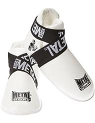 Metal Boxe Protège-pieds Blanc Taille L
