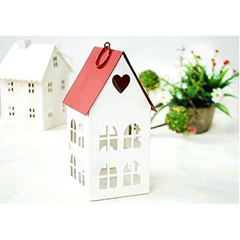 GYN Decoraciones de escritorio Europea hierro Retro rojo Top amor vela titular creativo casa habitación