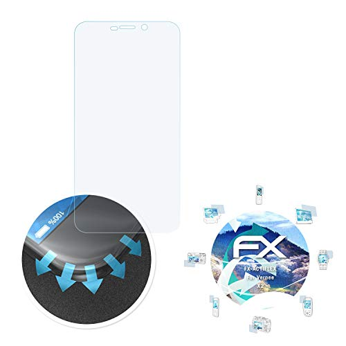 Preisvergleich Produktbild atFolix Schutzfolie passend für Vernee X2 Folie,  ultraklare und Flexible FX Displayschutzfolie (3X)