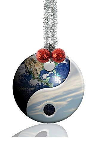 Youroom Yin Yang Earth Runder Porzellanschmuck Keramik Handwerk Weihnachten Dekoration Geschenk (Earth Day Handwerk)