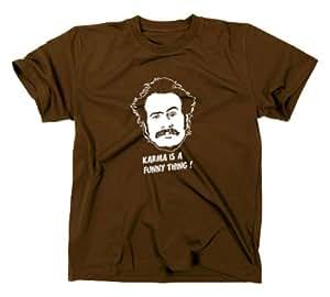 #1 My Name is Earl Fun T-Shirt, Funshirt, Serie, braun, S