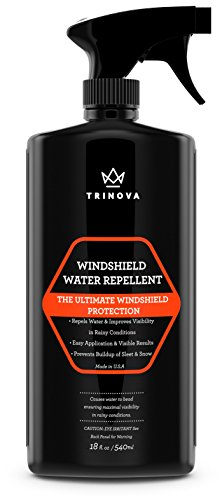 Price comparison product image Windscreen Rain Repellent - Protect glass from water | hydrophobic technology makes liquid bead up | TriNova