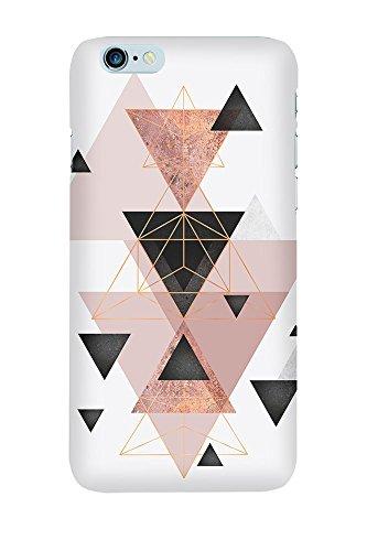 artboxONE Premium-Handyhülle iPhone 6/6S Geometric Compilation in Blush - Geometrie - Smartphone Case mit Kunstdruck hochwertiges Handycover kreatives Design Cover von Linsay Macdonald Premium Case