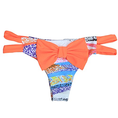 LAOO SA Neue String-Bikini-Badeanzug Bottom Mini Shorts Hohl Teeny Thongs pattern 1