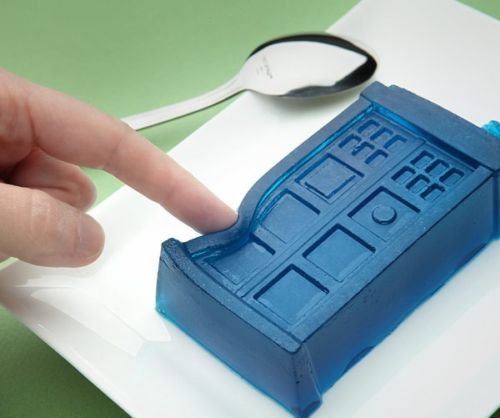 Dr Doctor Who Tardis Silicone Ice Cube Tray Jello Mold Chocolate Gelatin (Who Supplies Party Dr)