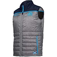 9cb84fb2419 Macron Scotland 2018 19 Players Padded Rugby Gilet - Charcoal Navy Light  Blue