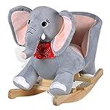 vidaXL Éléphant à Bascule pour Bébé Animal à Bascule Jouet d'enfant