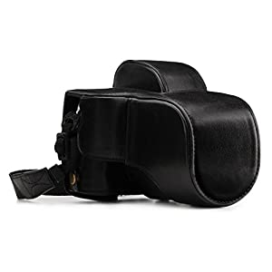 MegaGear MG1339 Ever Ready Genuine Leather Case and Strap with Battery Access for Fujifilm X-E3 Camera - Black