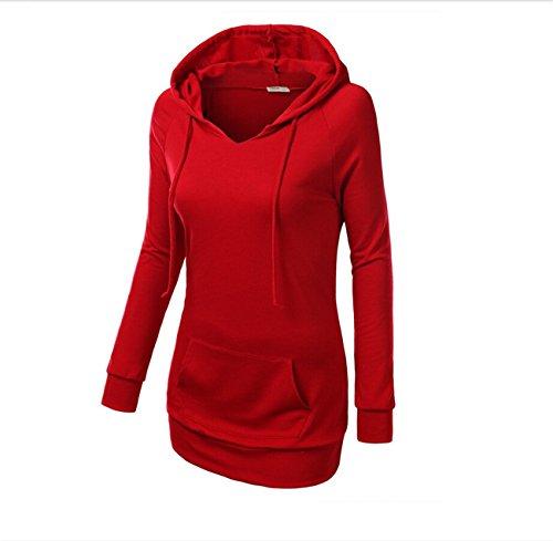 YL - Sweat-shirt - Femme Rouge