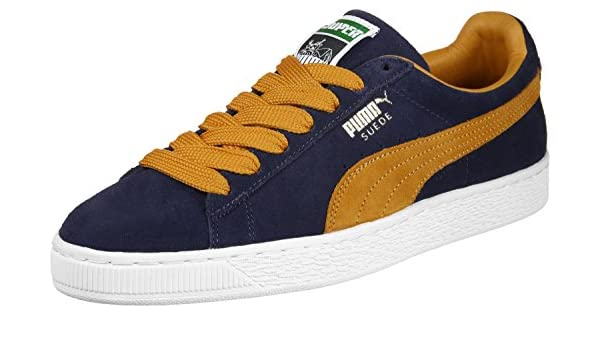 Puma Suede Super chaussures peacoatinca gold:
