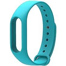 LuckWin Correa de Recambio para XIAOMI Wireless MI BAND 2 Brazalete Pulsera Inteligente Extensibles Coloridos Impermeables ( Azul )