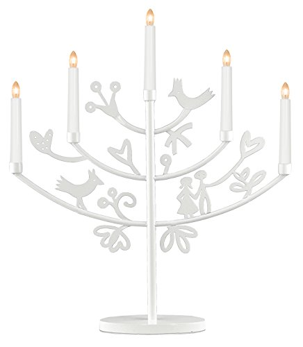 Best Season Eden 180-48 - Candelabro con 5 puntos de luz, color blanco