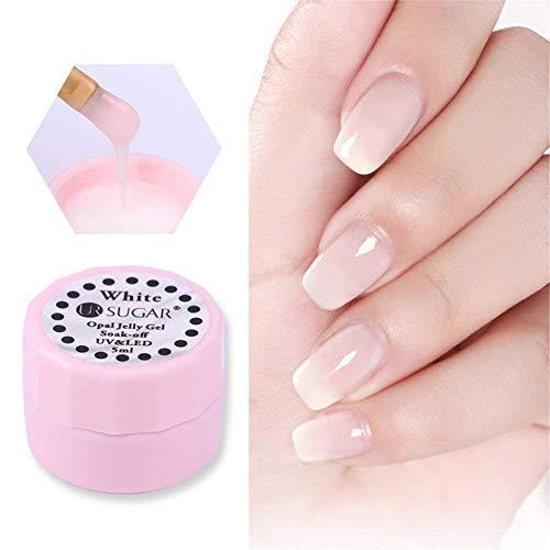 CoulorButtons Gel à ongles UV Sugar 5 ml Opale transparente