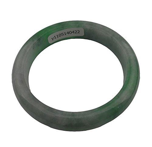 Unbekannt Frauen Natur handgefertigt grün Jade Jadeit Armband Armreif 55mm # A0422