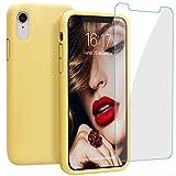JASBON Coque pour iPhone XR Coque Silicone Liquide avec Protecteur d'écran Gratuit,...