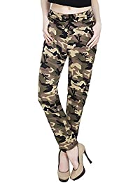 552c385913a MUKHAKSH Women Girls Ladies Hot Latest Simple Army Style (Camouflage Print)  Jeggings Lower Trouser for Casual   Office wear (Free Size 26 to 40 Waist)  (Size ...