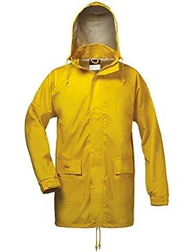 Norway - Chubasquero amarillo de PU con capucha, tamaño: XL