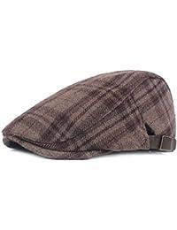 Boinas de hombre Hombres Gorra plana Clásico Sombrero plano de punto Pato  de pato de moda 0e72d0f745d