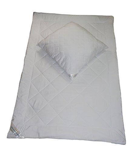 Ananda Schmidt® Bettwaren Set, Kopfkissen 80 x 80 cm & Bettdecke 135 x 200 cm | 4 Jahreszeitendecke| Kochfest bis 95° | Mikrofaserfüllung