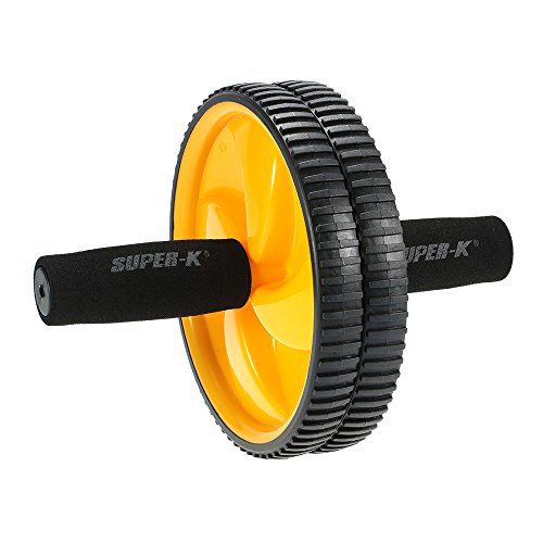 41NDoOwWTRL. SS500  - Lixada Dual Abdominal Ab Core Roller Wheel for Gym Abdominal Exercise Fitness Equipment