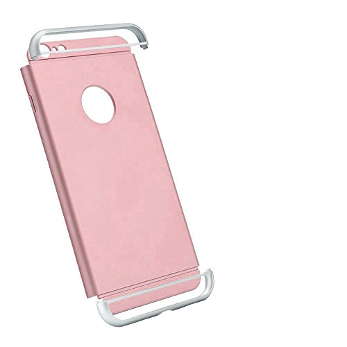 iProtect Apple iPhone 7, iPhone 8 Hülle Slim Hard Case Armor Shockproof Schutzhülle in grau gold