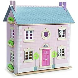 Le Toy Van - Gran casa de muñecas de madera (2 plantas, 61 x 35 x 67 cm), color rosa