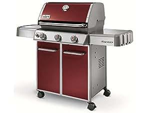 Weber 6513053 Genesis E-310 Barbecue à Gaz avec 3 Brûleurs Crimson Red