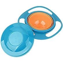 Bubudong Tazón de fuente antirrobo universal del tazón de fuente del Gyro 360 grados suaves de giro de la rotación del tazón de fuente para los cabritos del bebé