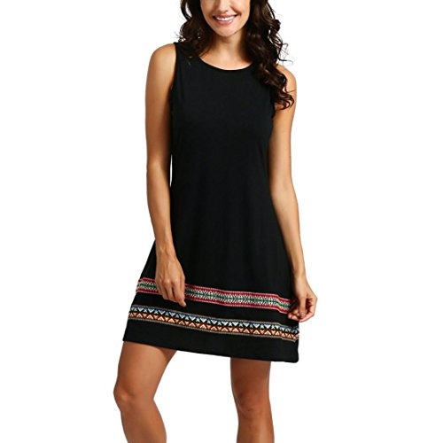 Sanfashion bekleidung -  vestito - triangolo - manica corta - donna nero 44 eu