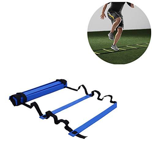 KAIMENG Agility Ladder Speed Training Ausrüstung 6M 12-Sprossen für Kinder Erwachsene Fußball Fußball Agility Training (Rot)