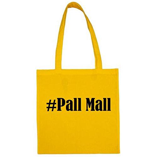 Tasche #Pall Mall Größe 38x42 Farbe Gelb Druck Schwarz