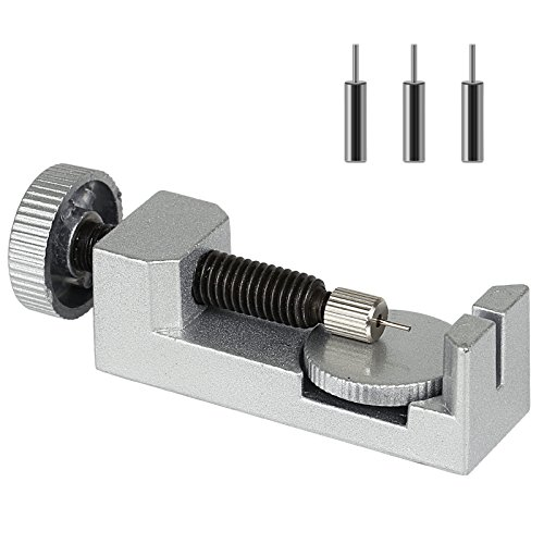 LIHAO Uhrmacherwerkzeug Stiftausdrücker mit Ersatzstifte Kettenbolzen Remover Uhrenarmband Reparatur Werkzeug