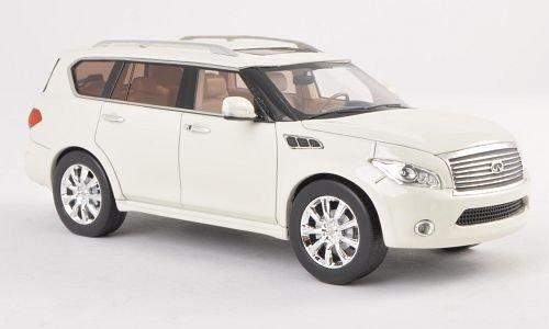 Infiniti QX56, bianco , modello di automobile, modello prefabbricato, GLM 1:43 Modello esclusivamente Da (Infiniti Qx56)